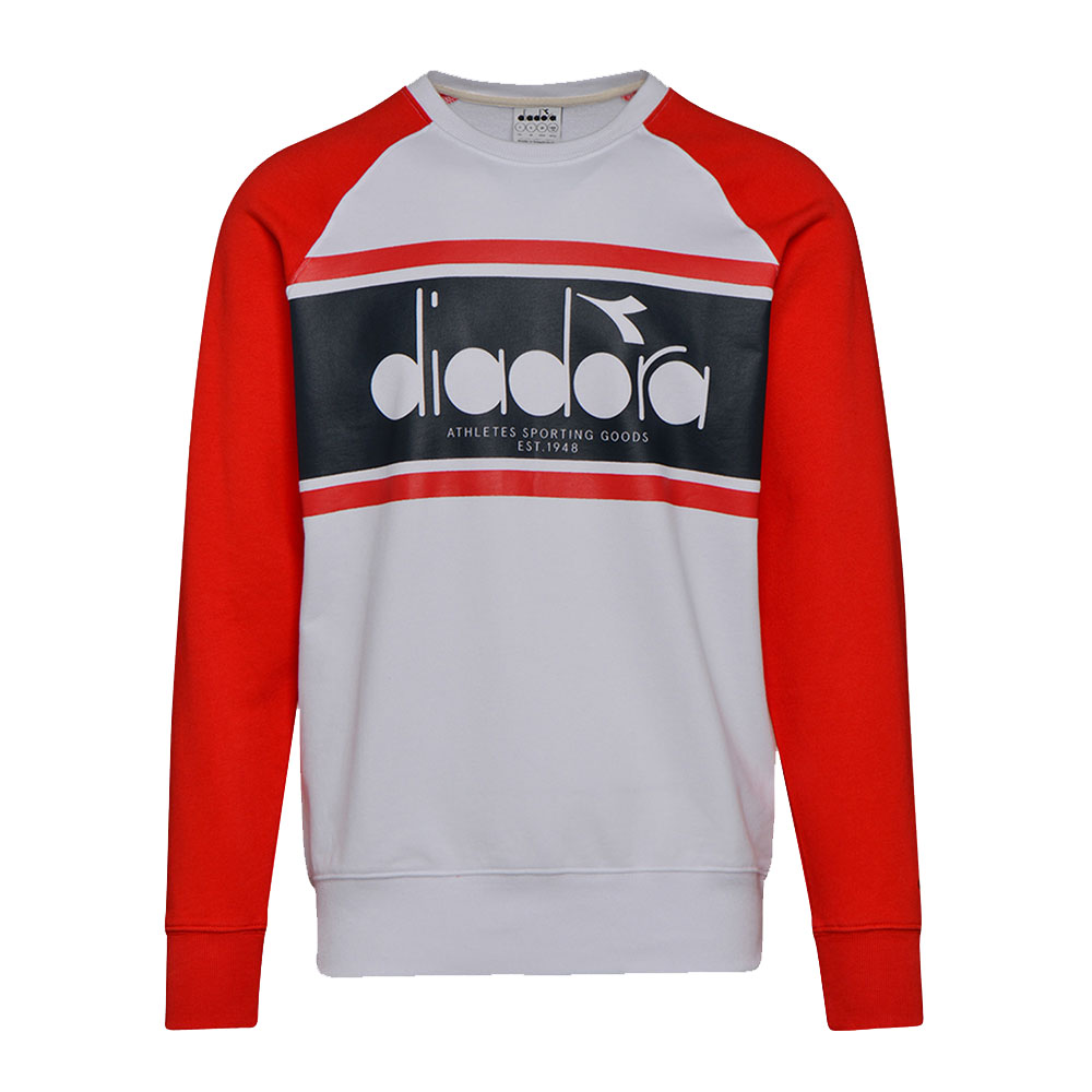Sweat Shirt-Diadora-Rouge-Blanc-Crew Spectra