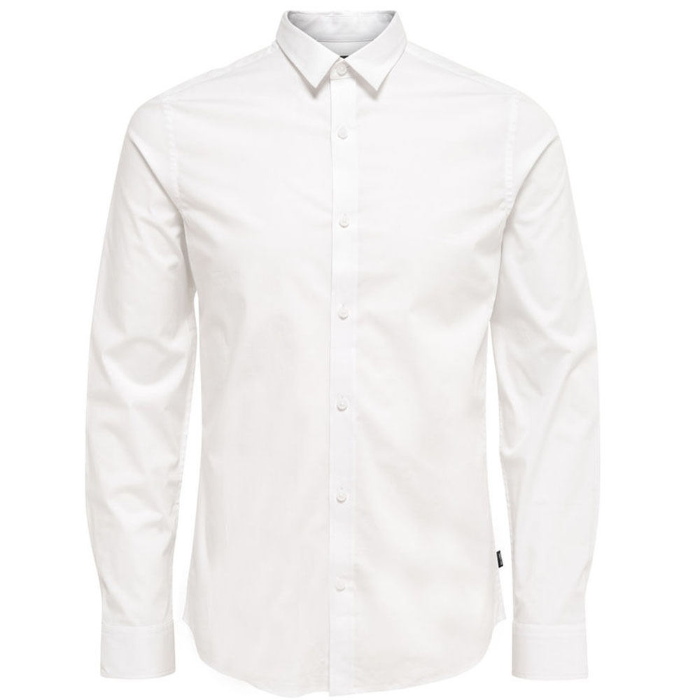CHEMISE-ONLY-&-SONS-BLANCHE-HOMME