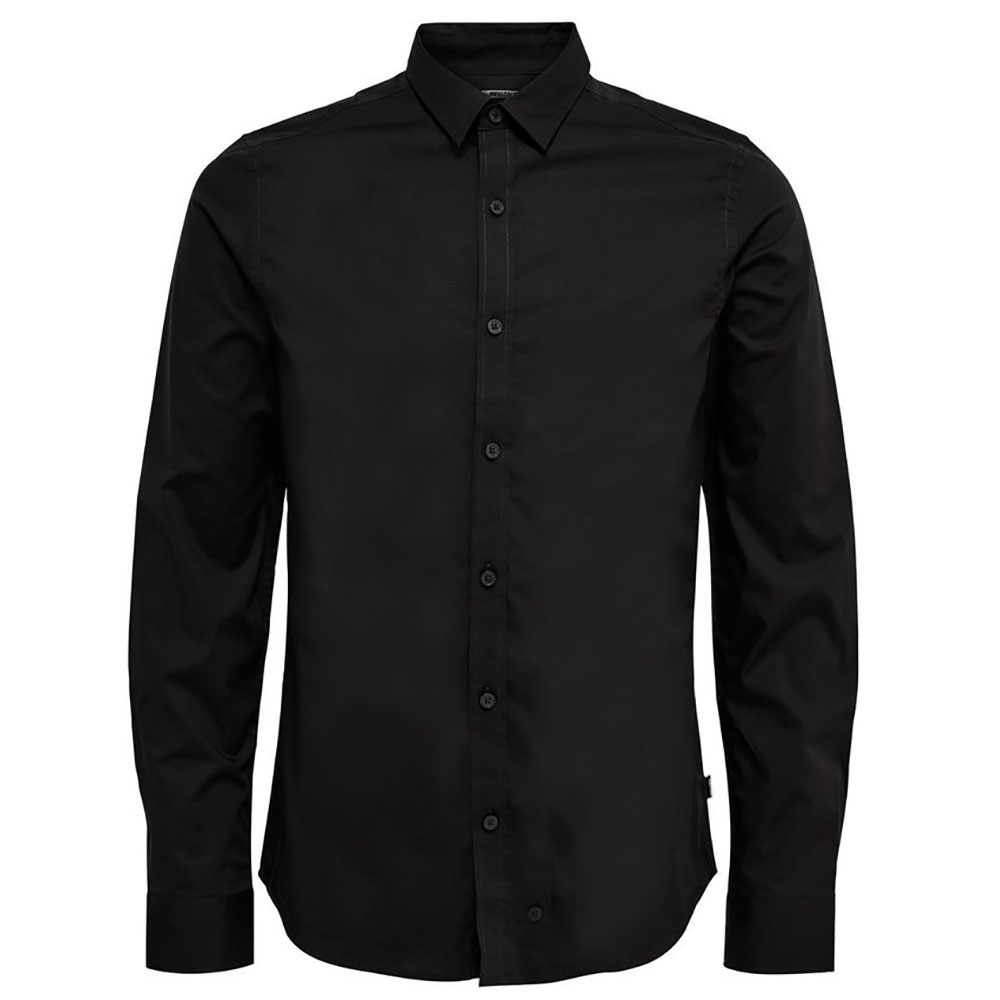 CHEMISE-ONLY-&-SONS-NOIR-HOMME