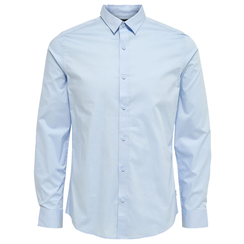 CHEMISE-ONLY-&-SONS-BLEU-CLAIR