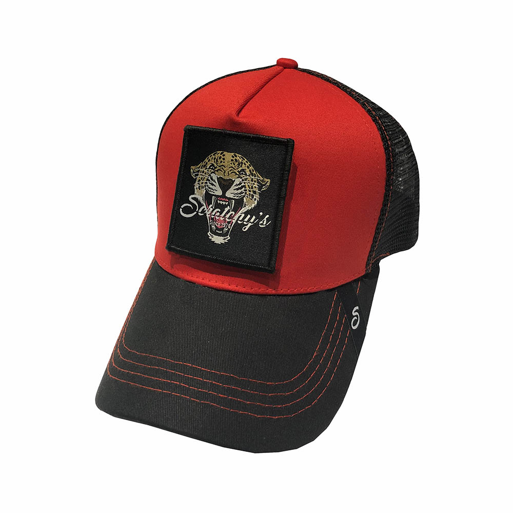 Casquette scratchy\'s rouge tigre