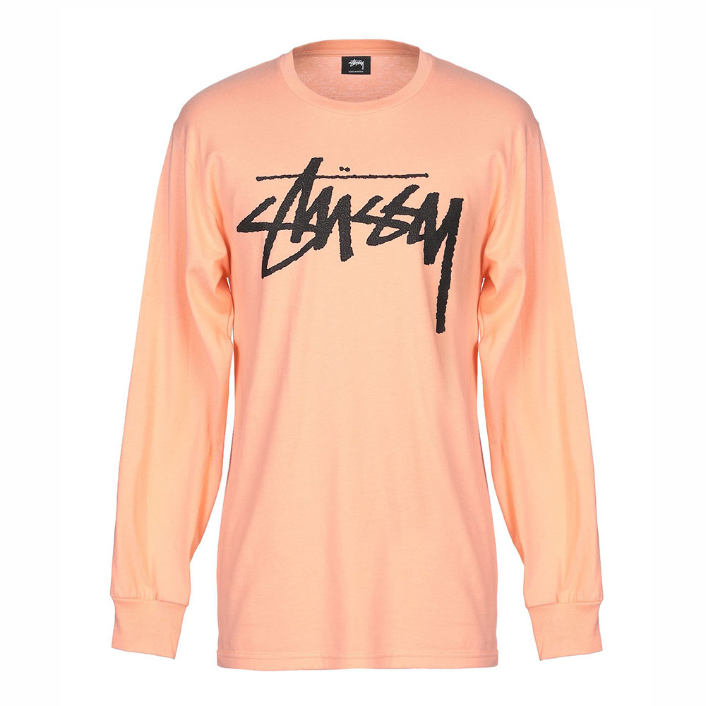 T-shirt manches longues saumon Stussy