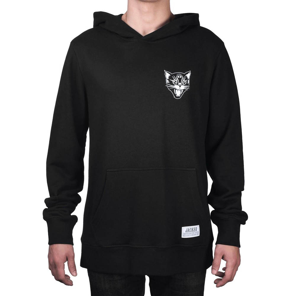 Sweat a capuche noir Jacker black cat