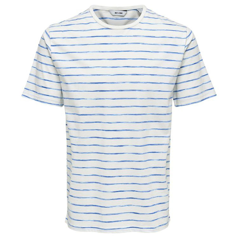 T-shirt marinière bleue Only and Sons