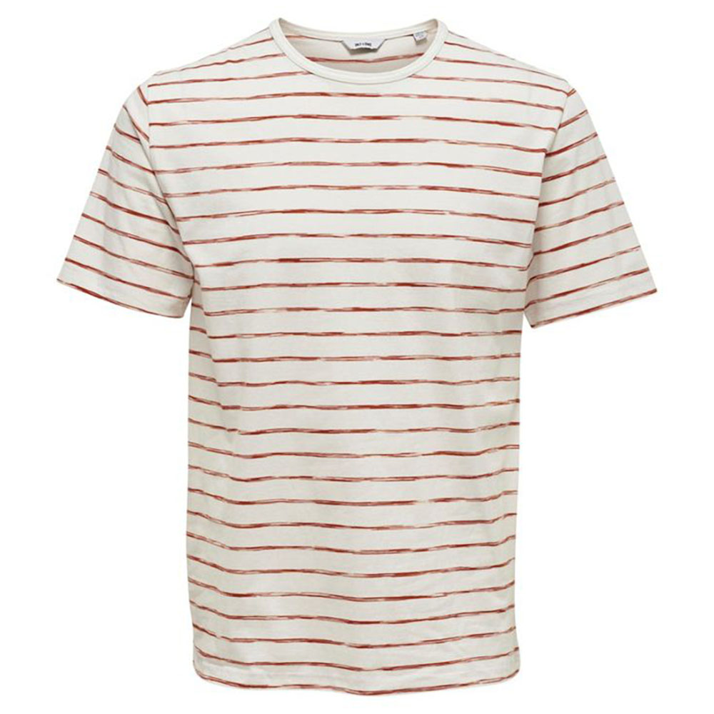 T-shirt marinière orange Only and Sons
