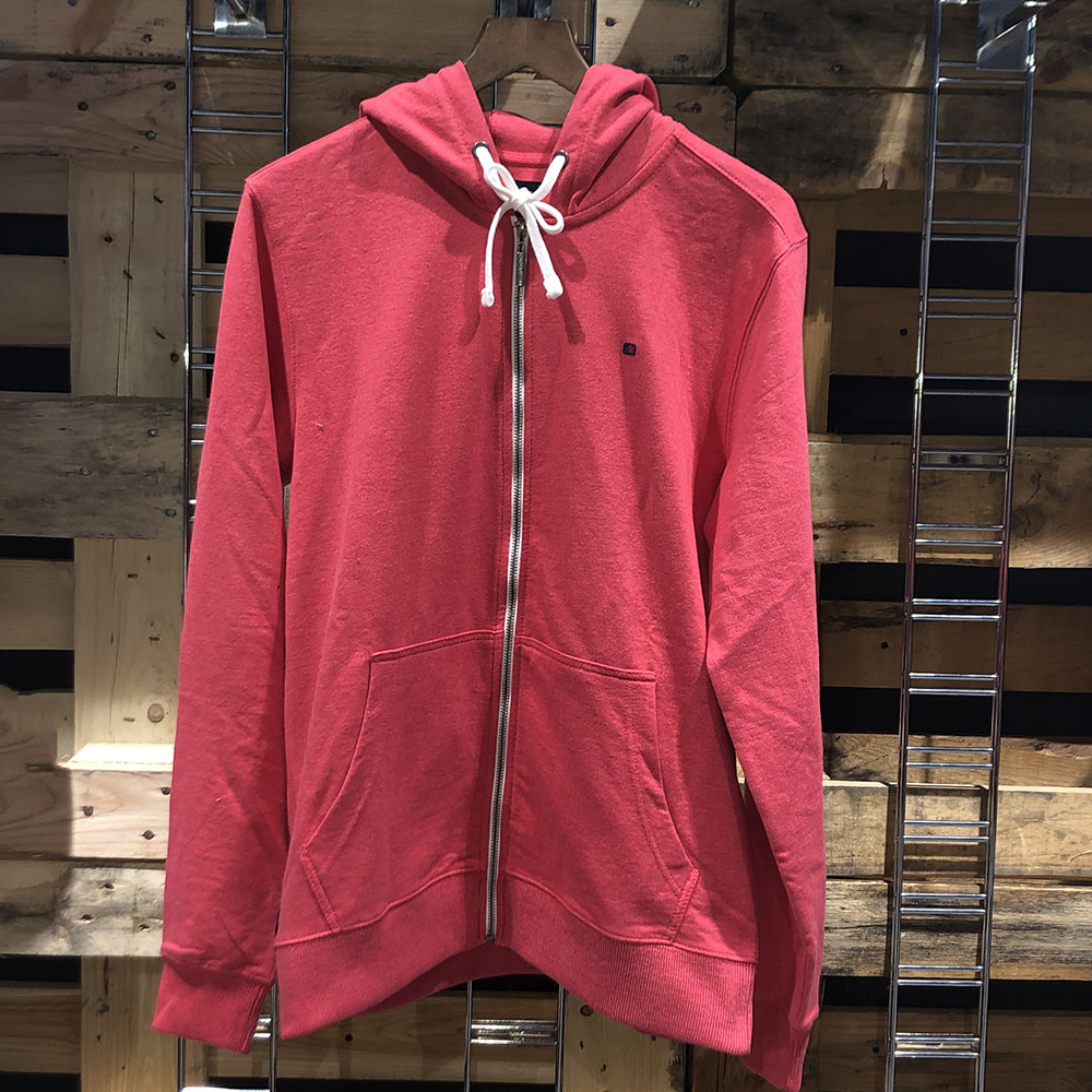 Sweat à capuche zipper rouge Teddy Smith