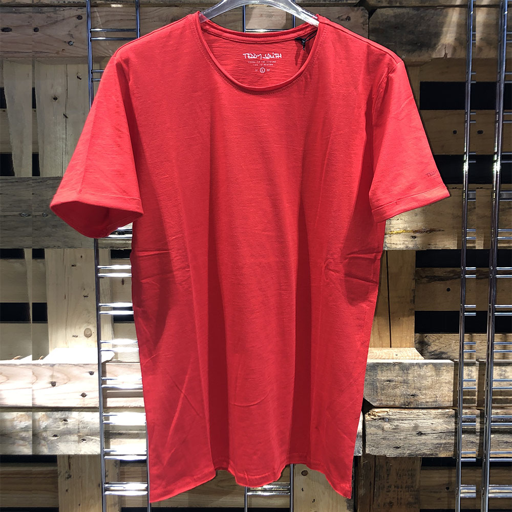T-shirt basique rouge Teddy Smith