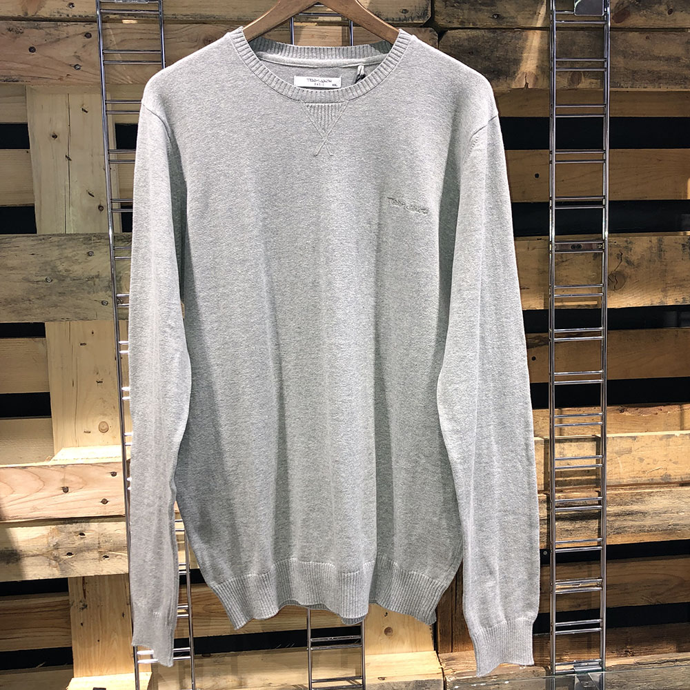 Pull col rond gris chiné Teddy Smith