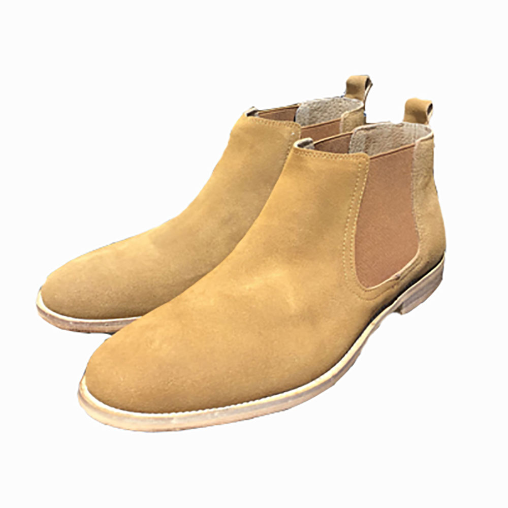 Bottines en cuir camel