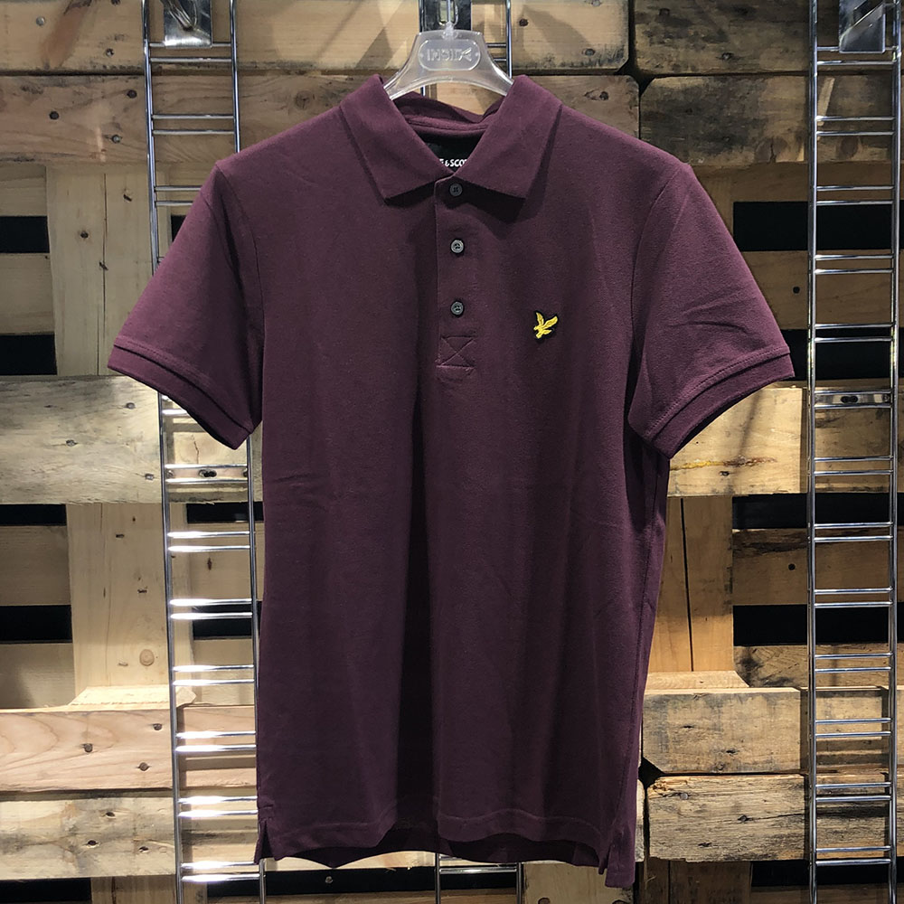 Polo manches courtes Burgundy Lyle & Scott