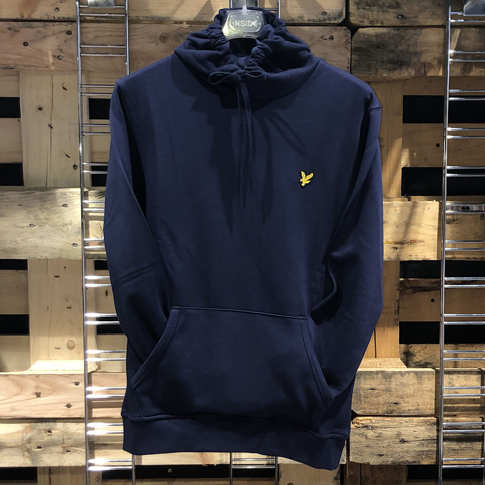 Sweat à capuche bleu marine Lyle & Scott