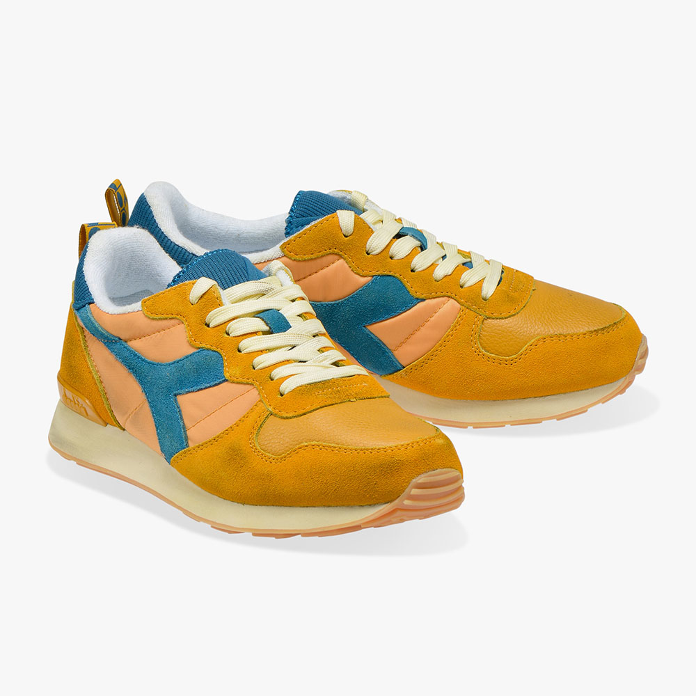 Baskets Diadora Camaro used - Orange moutarde