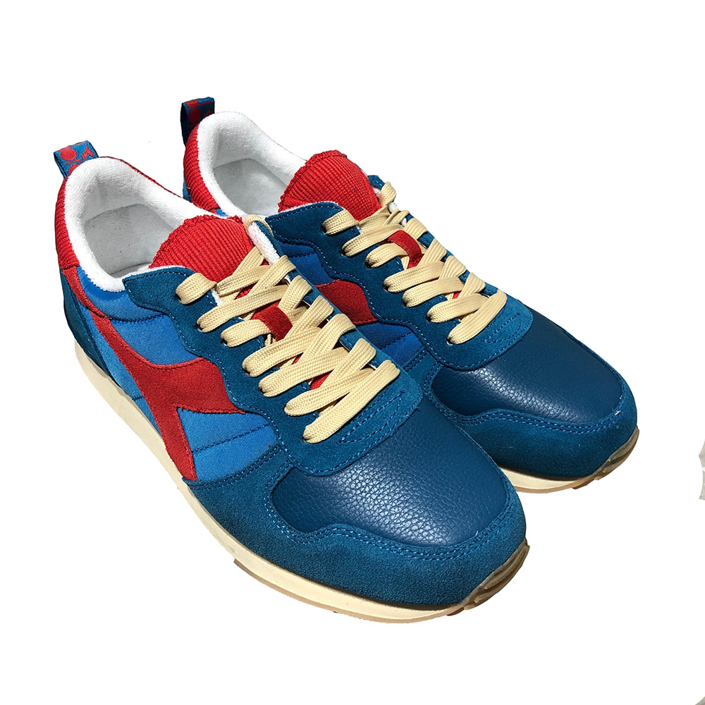 Baskets Diadora Camaro used - bleu et rouge