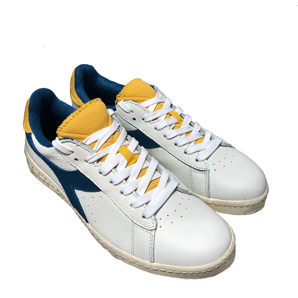 Baskets Diadora Game L Low used - Blanc et bleu