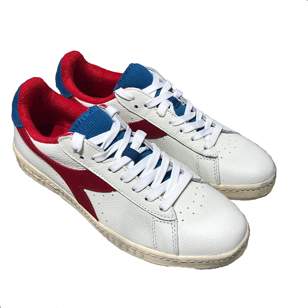Baskets Diadora Game L Low Used - Blanc et rouge