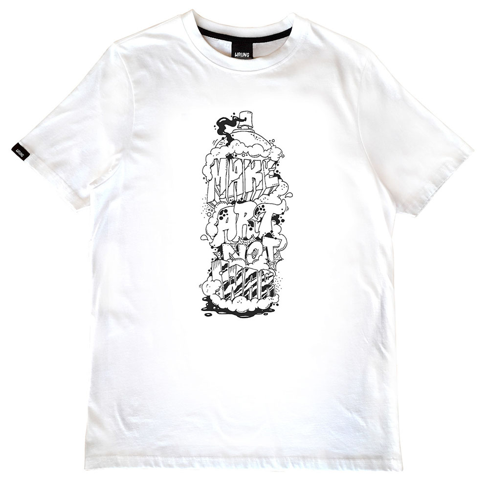 T-shirt blanc Imagine Wrung