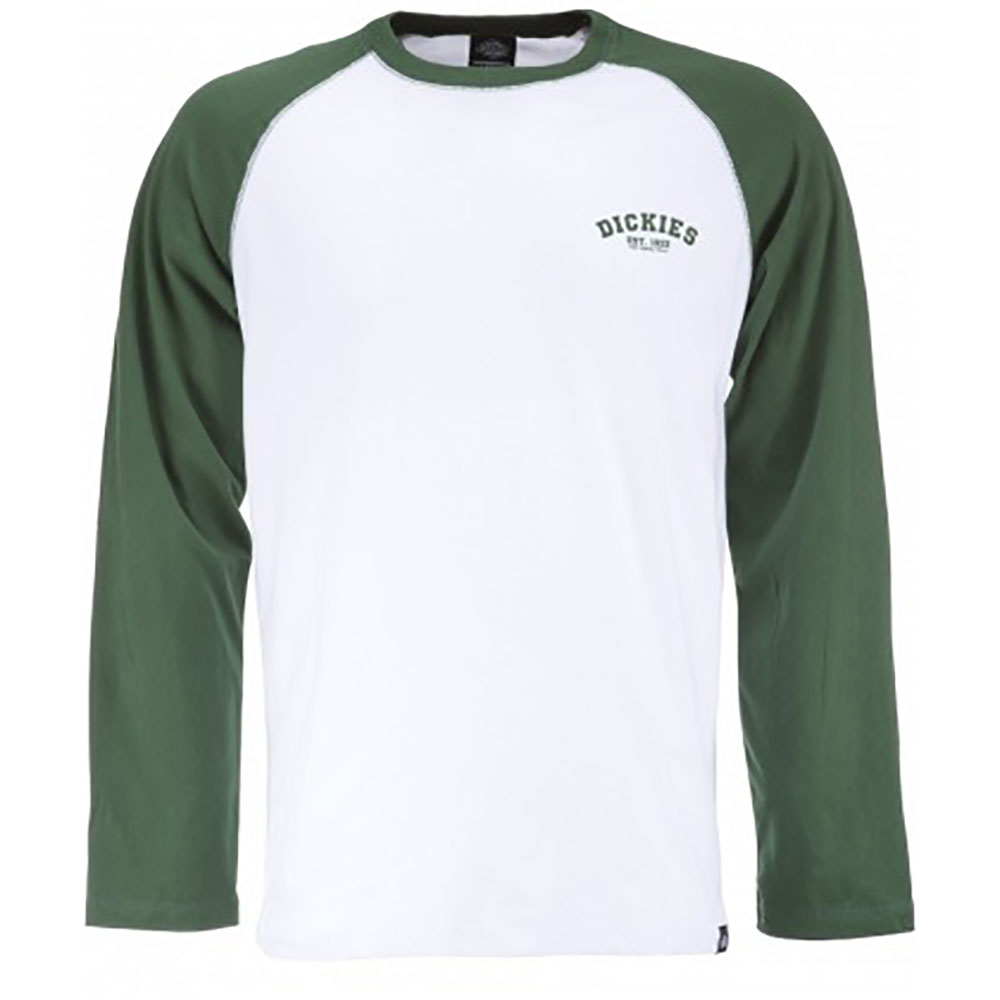 T-shirt manches longues blanc et olive Baseball Dickies
