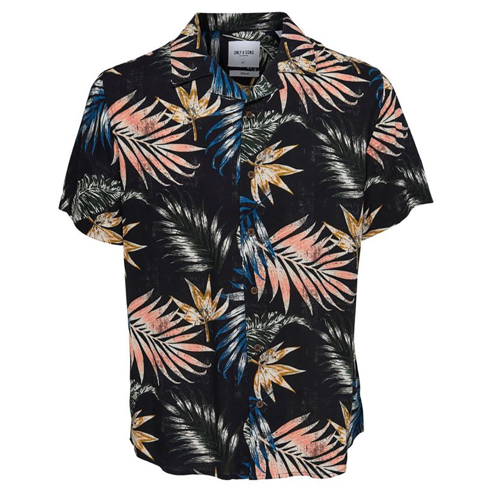 Chemise noire hawaïenne Only and Sons