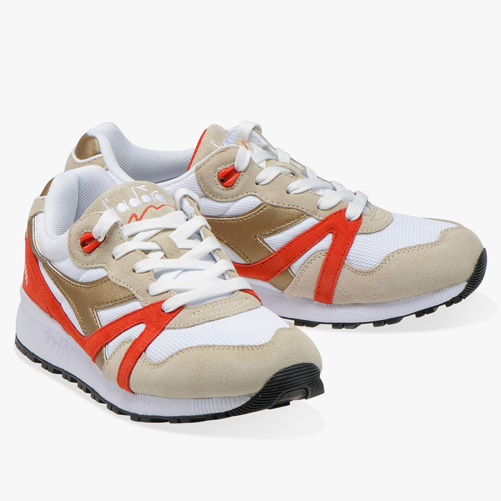 Baskets DIadora N9000 Sparks - Orange et doré