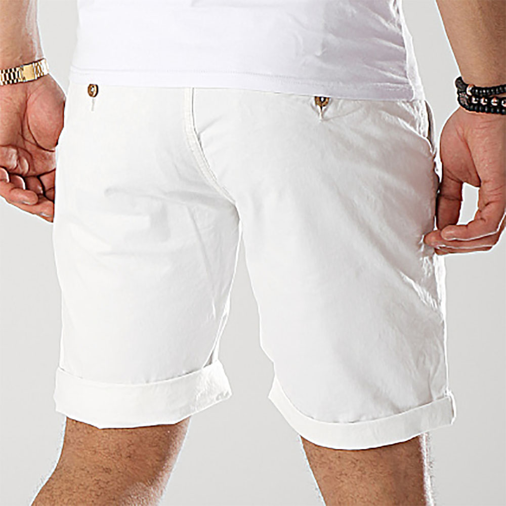 shorty blanc homme