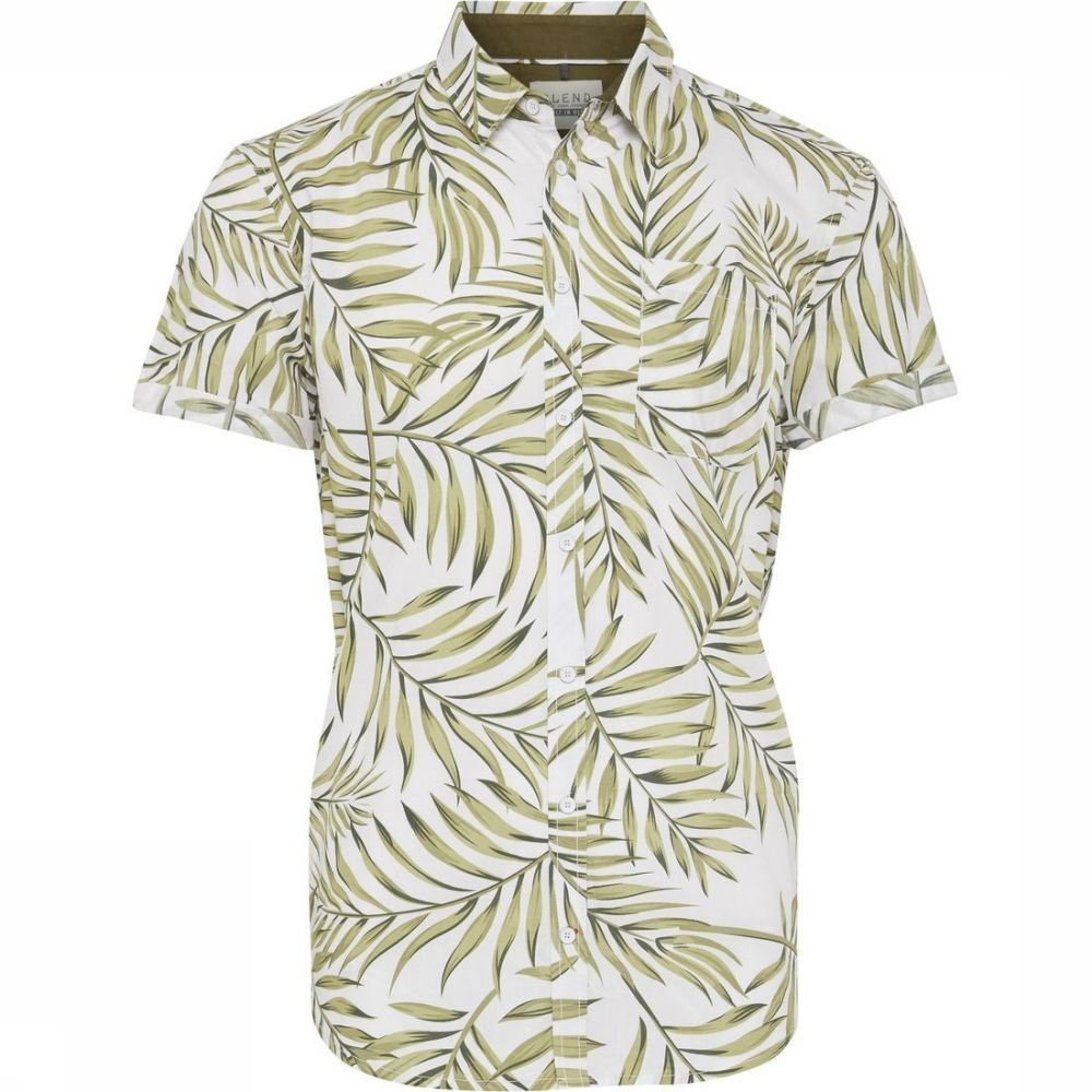 Chemise hawaienne blanche Blend