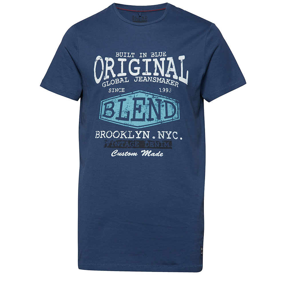 T-shirt denim bleu Blend