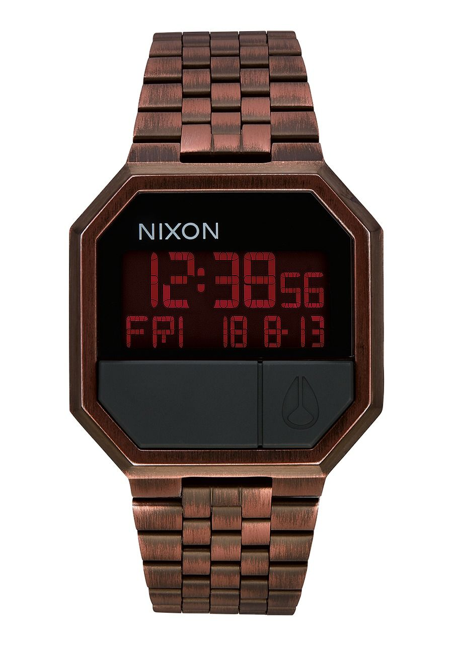 Montre digitale antique copper Nixon homme