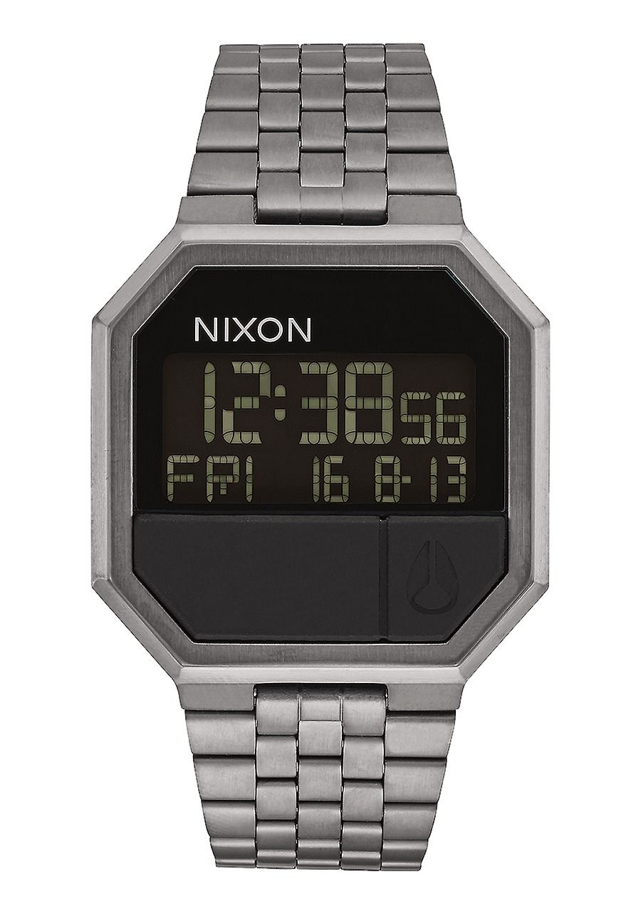 Montre digitale argent Nixon homme re-run