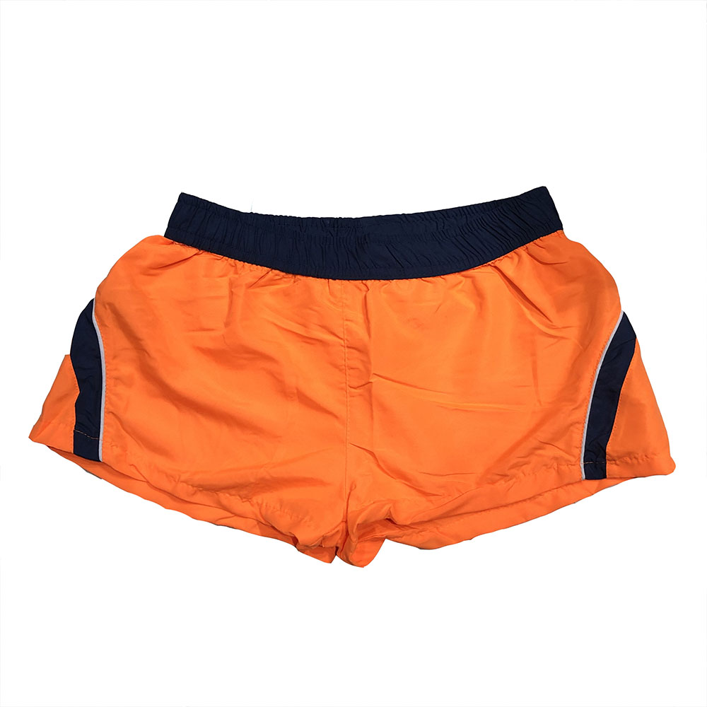 Maillot de bain orange bleu homme