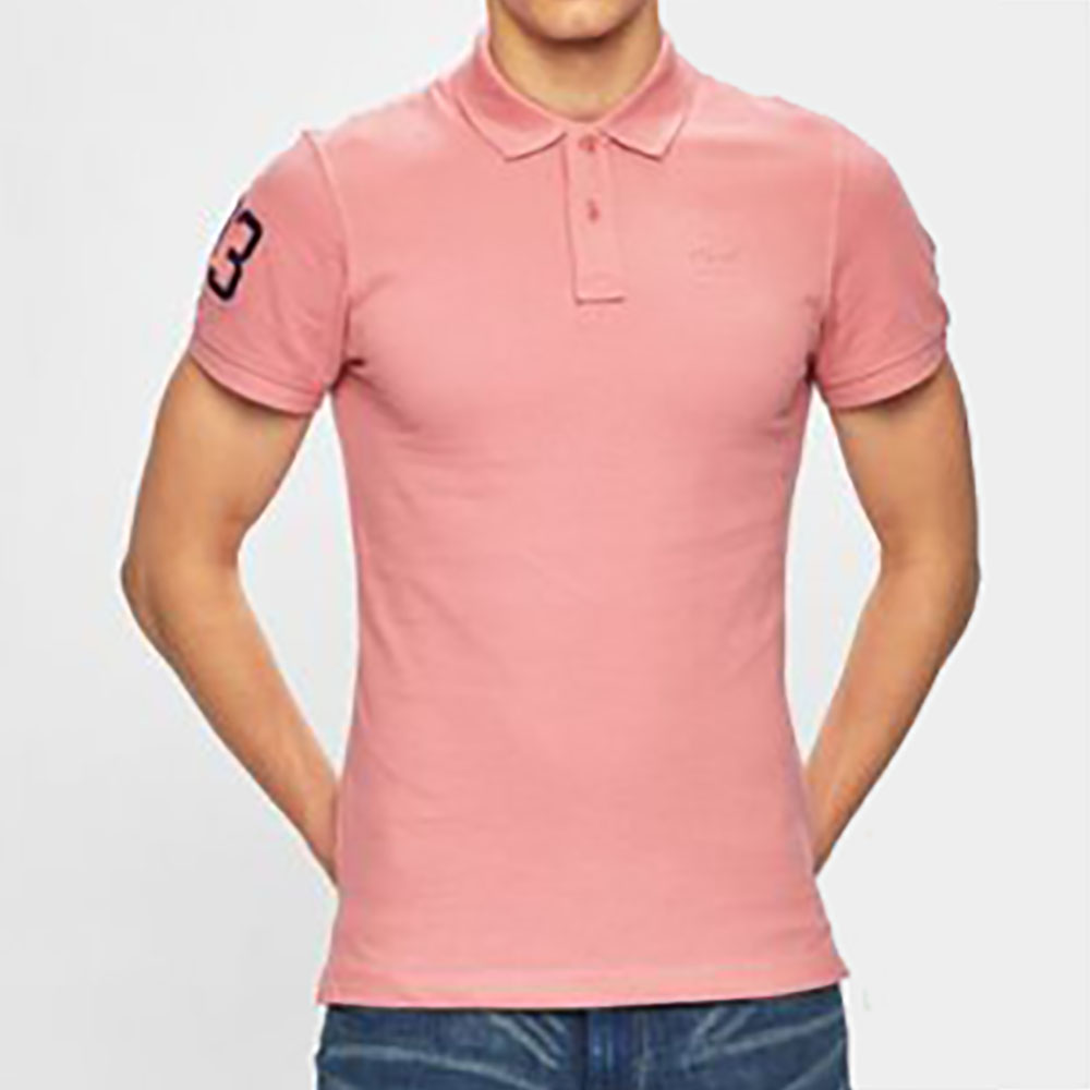 Polo rose Blend homme