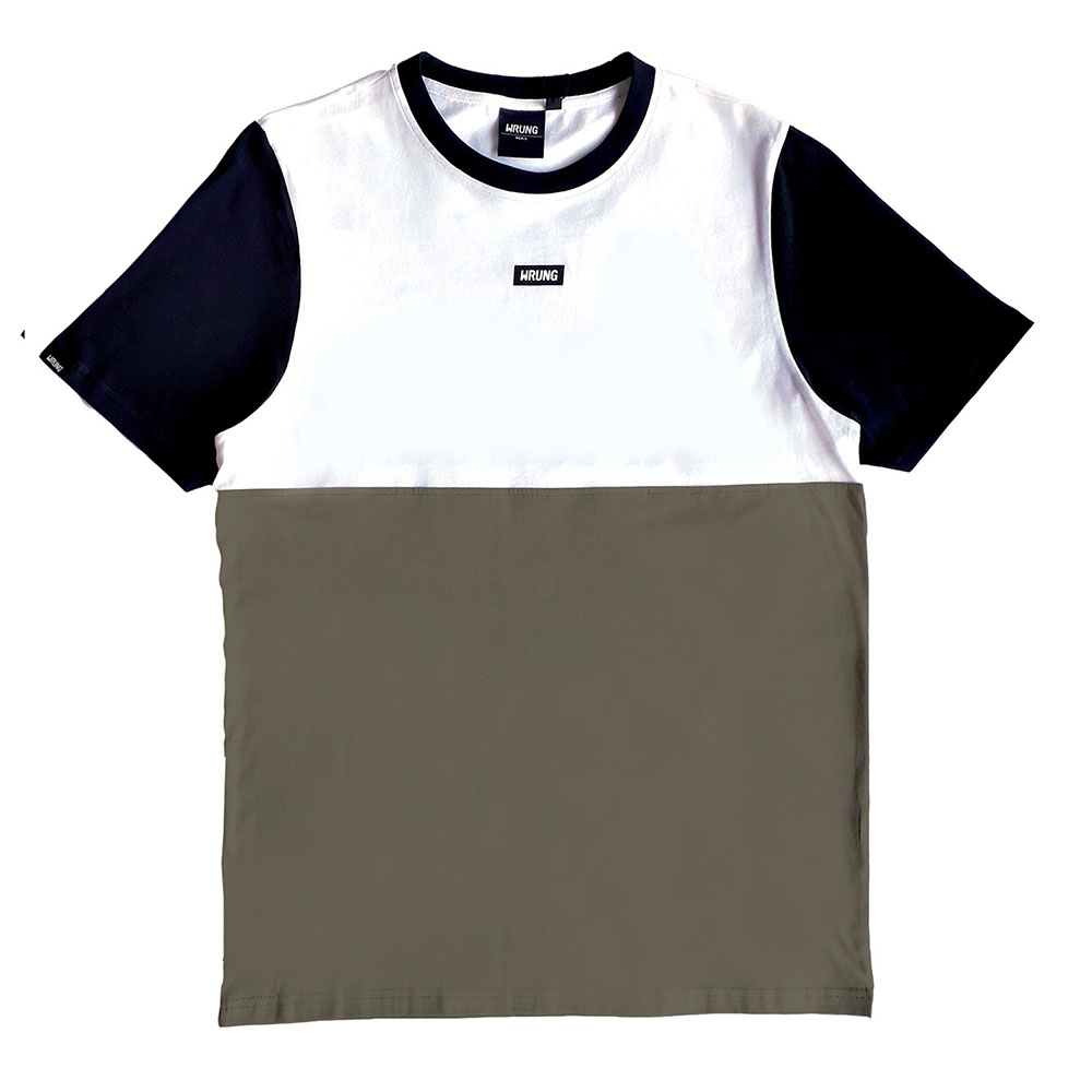 T-shirt blocks Wrung kaki homme