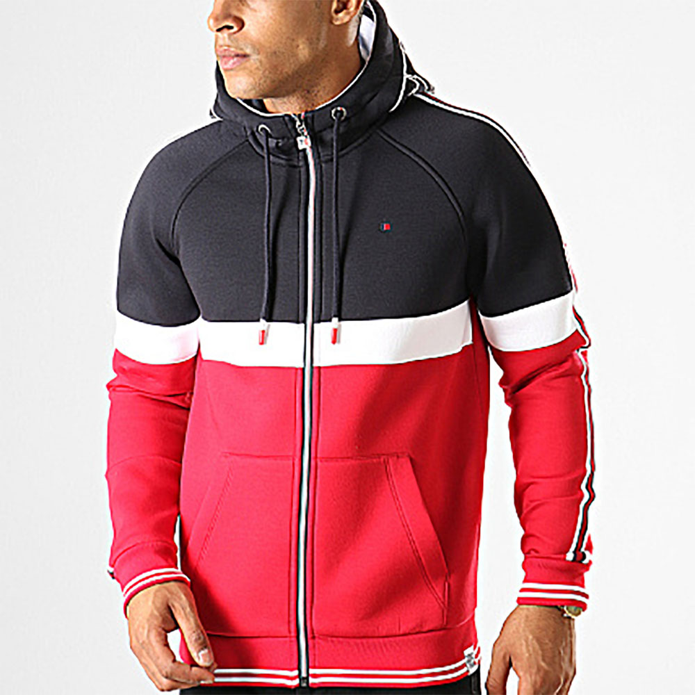 Sweat à capuche zip Teddy Smith - bleu marine