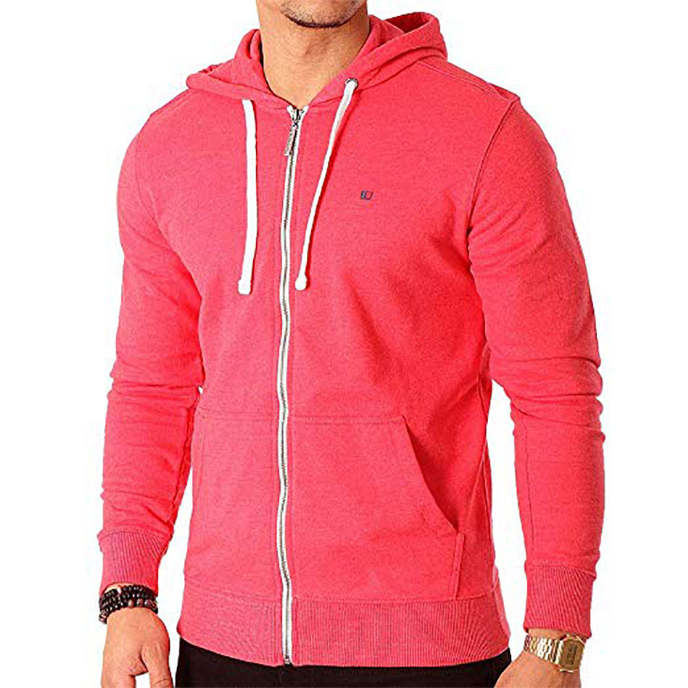 Sweat à capuche zippé Teddy Smith Gelly - Ruby chiné