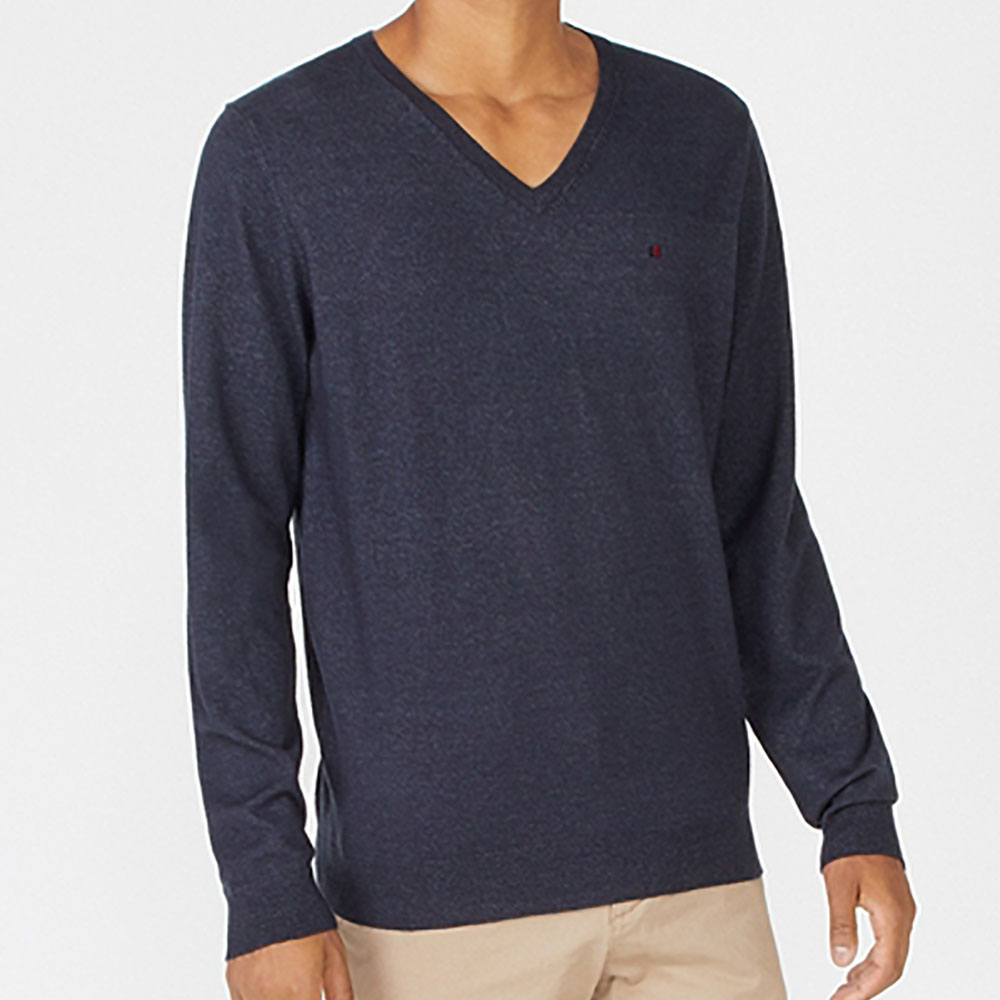 Pull col v Piko Teddy smith - bleu marine