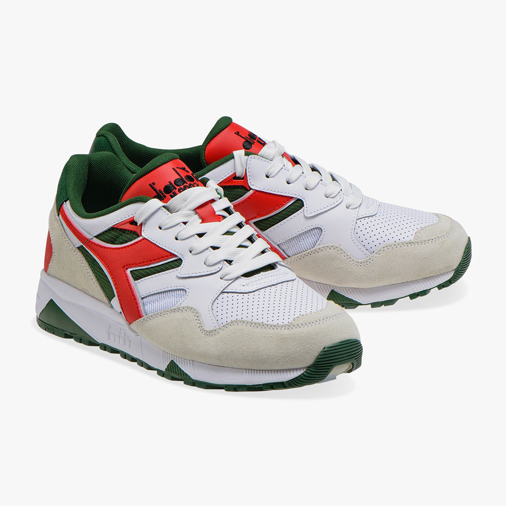 Baskets Diadora N9002 Beta - blanc rouge