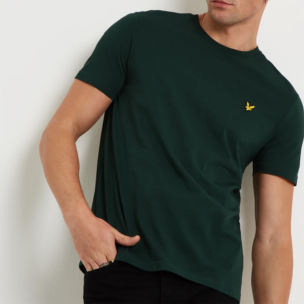 T-shirt vert Lyle and Scott homme
