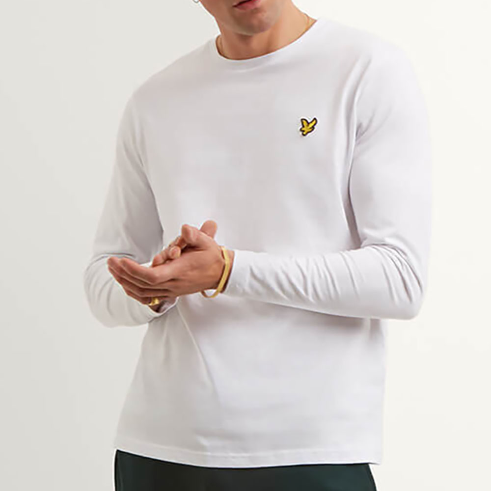 T-shirt blanc manches longues Lyle and Scott homme