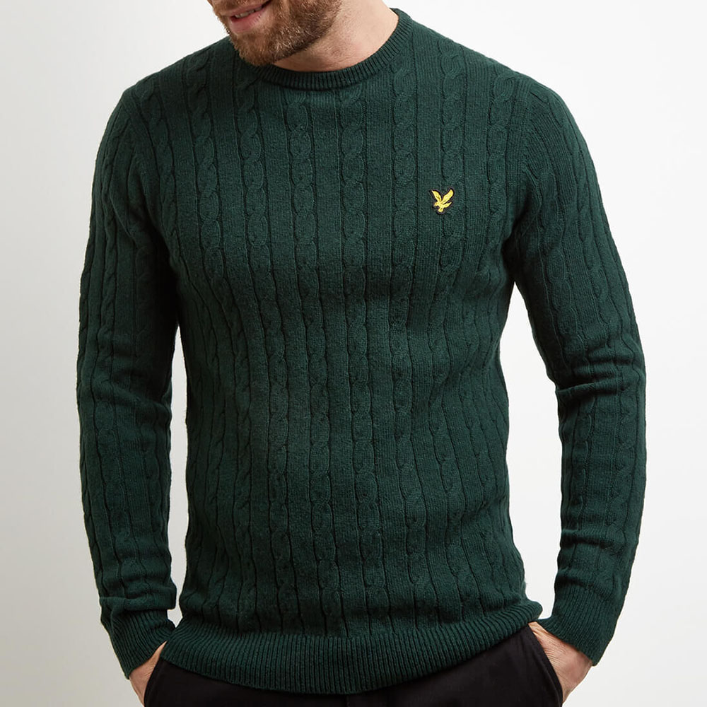 Pull vert homme Lyle and Scott