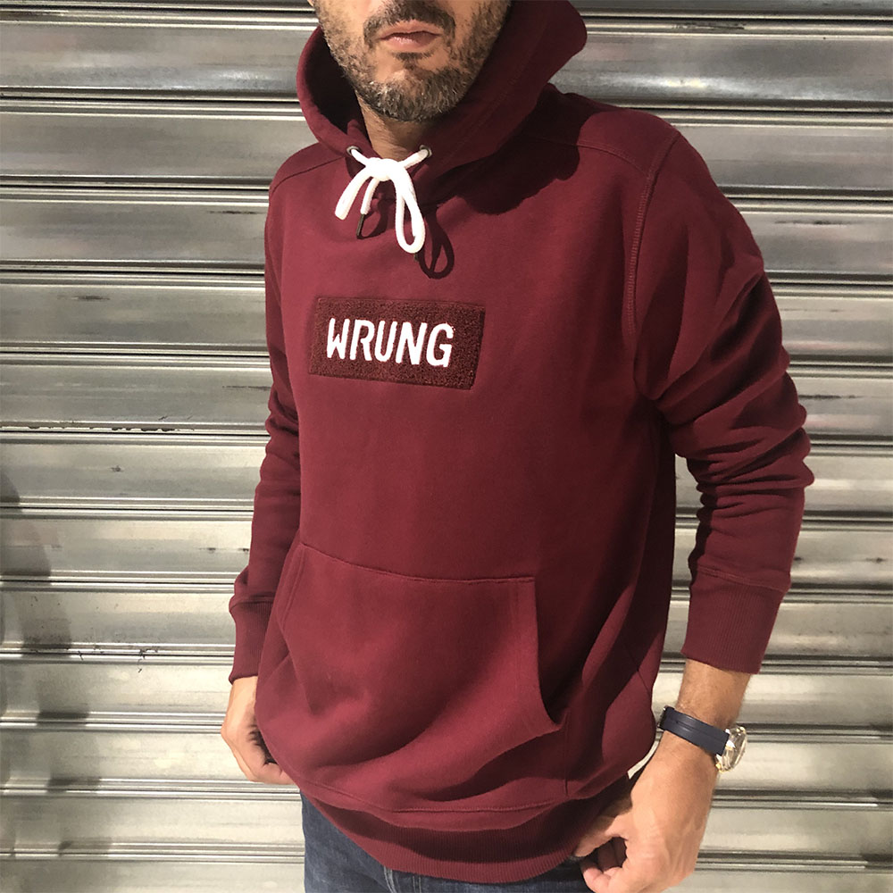 Sweat à capuche Wrung - bordeaux