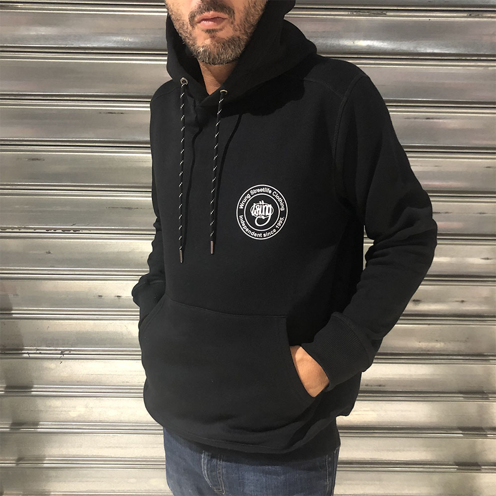Sweat à capuche noir Wrung Stamped