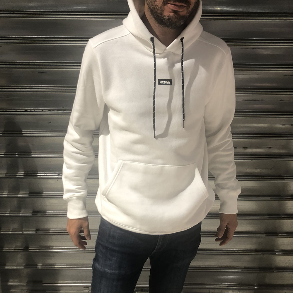 Sweat à capuche Caution Wrung - blanc