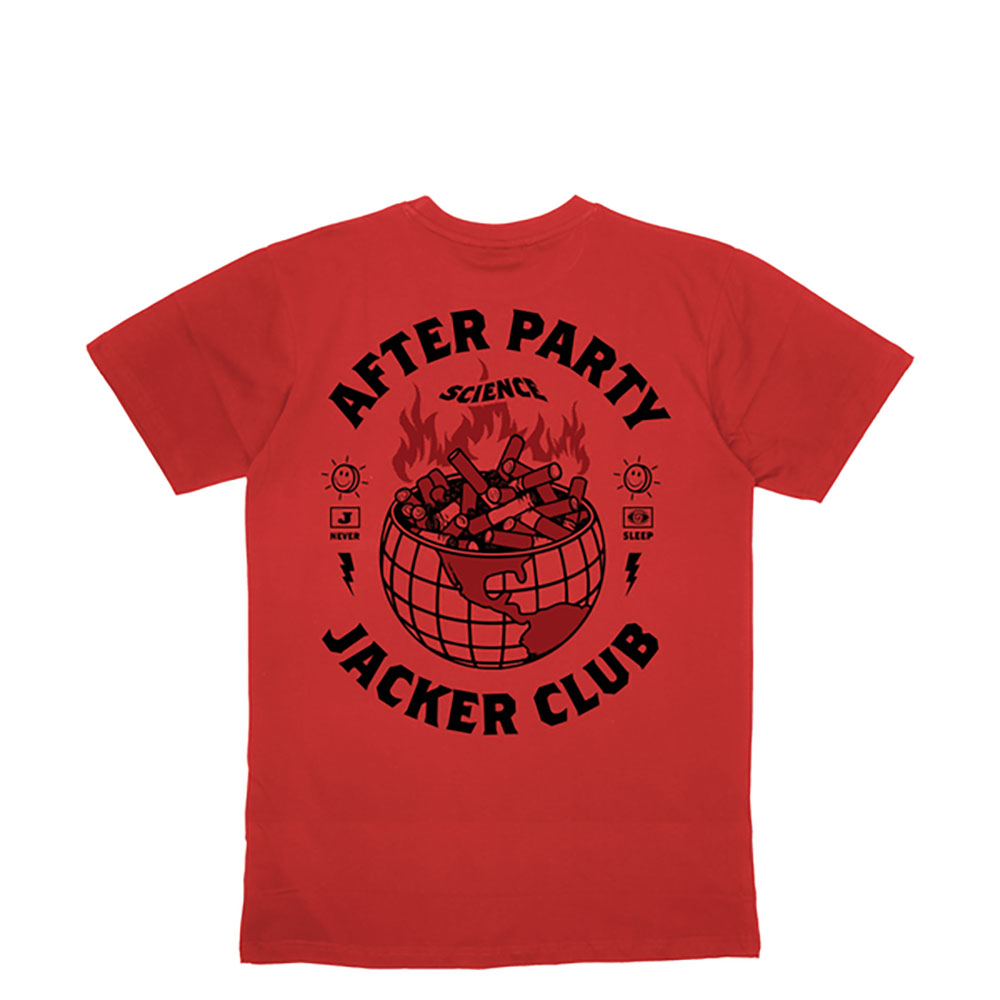 T-shirt Jacker Ashtray World - rouge
