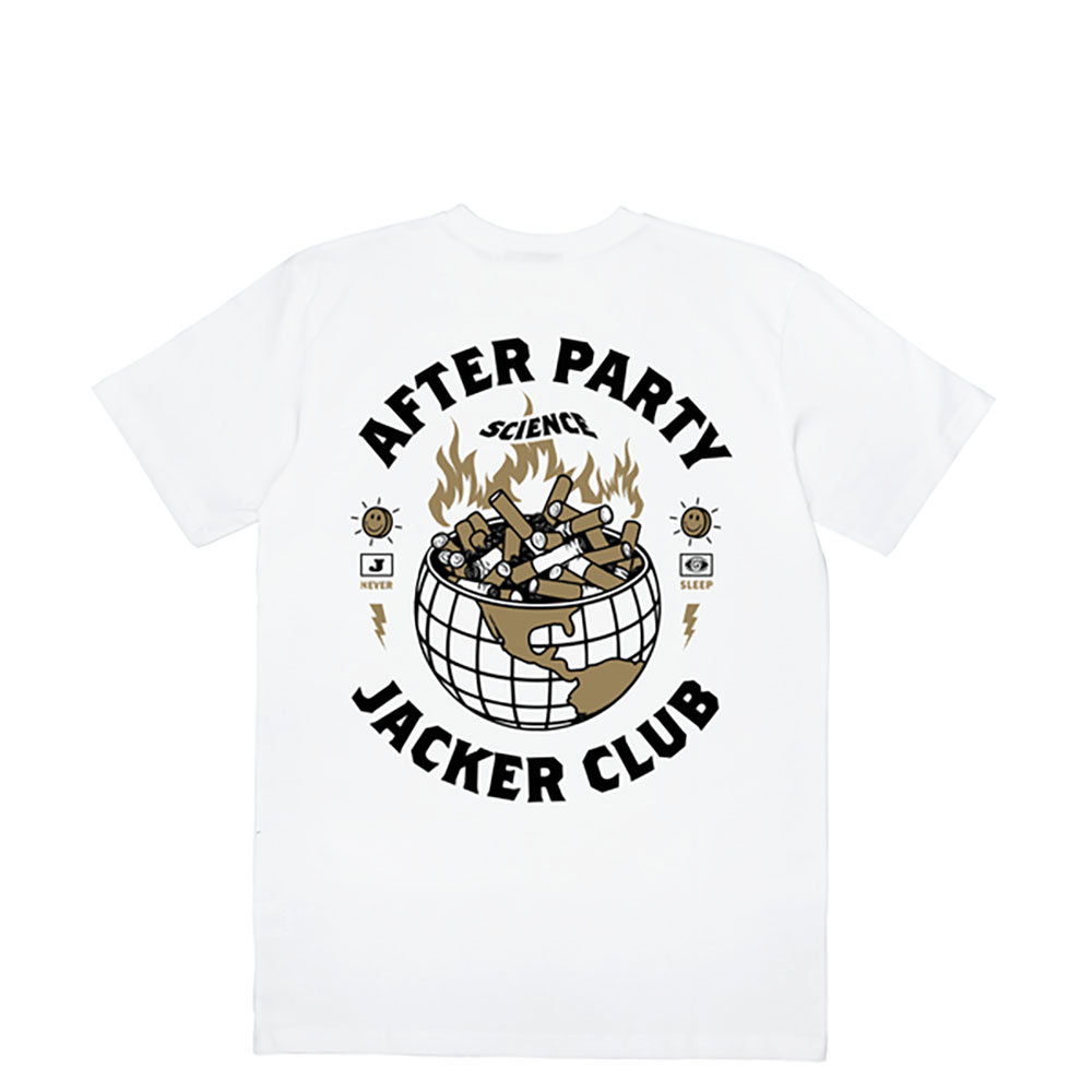 T-shirt Jacker Ashtray World - blanc