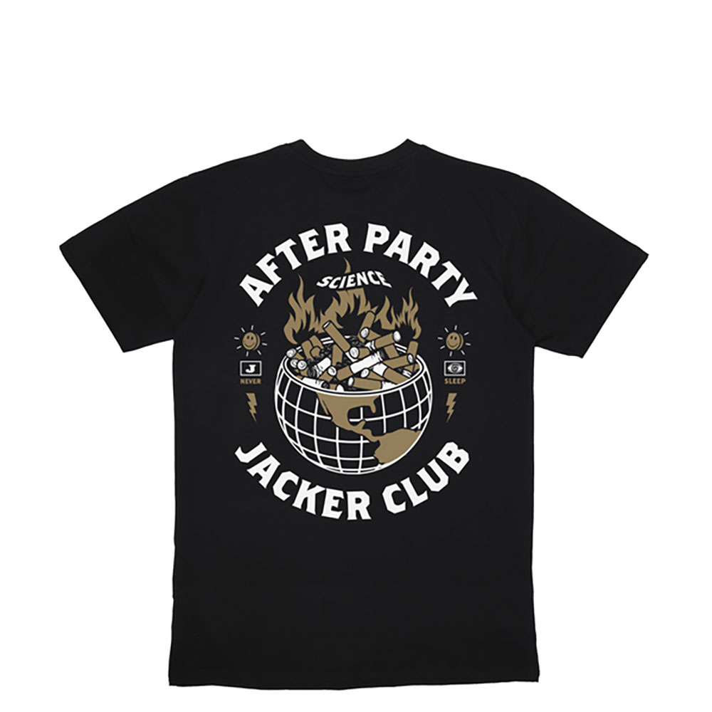 T-shirt Jacker Ashtray World - noir