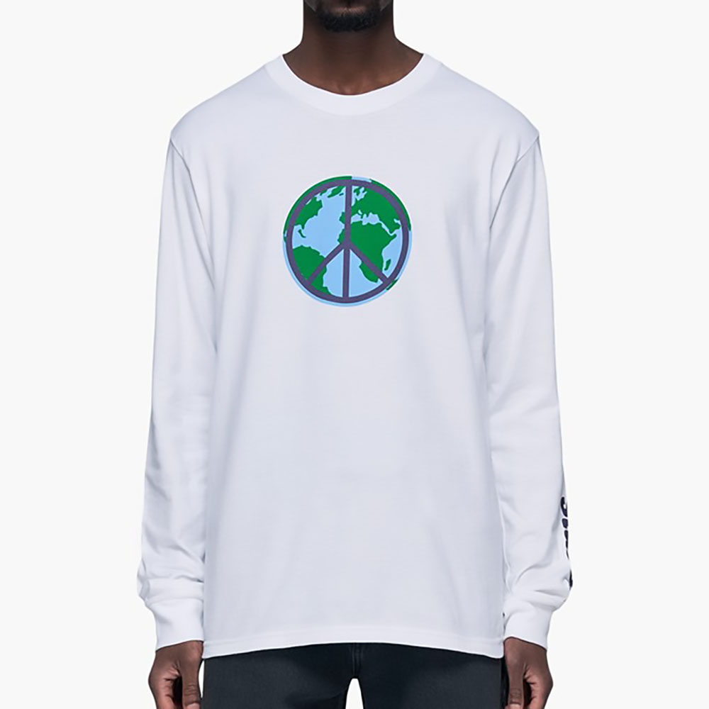 T-shirt manches longues Peace Stussy - blanc