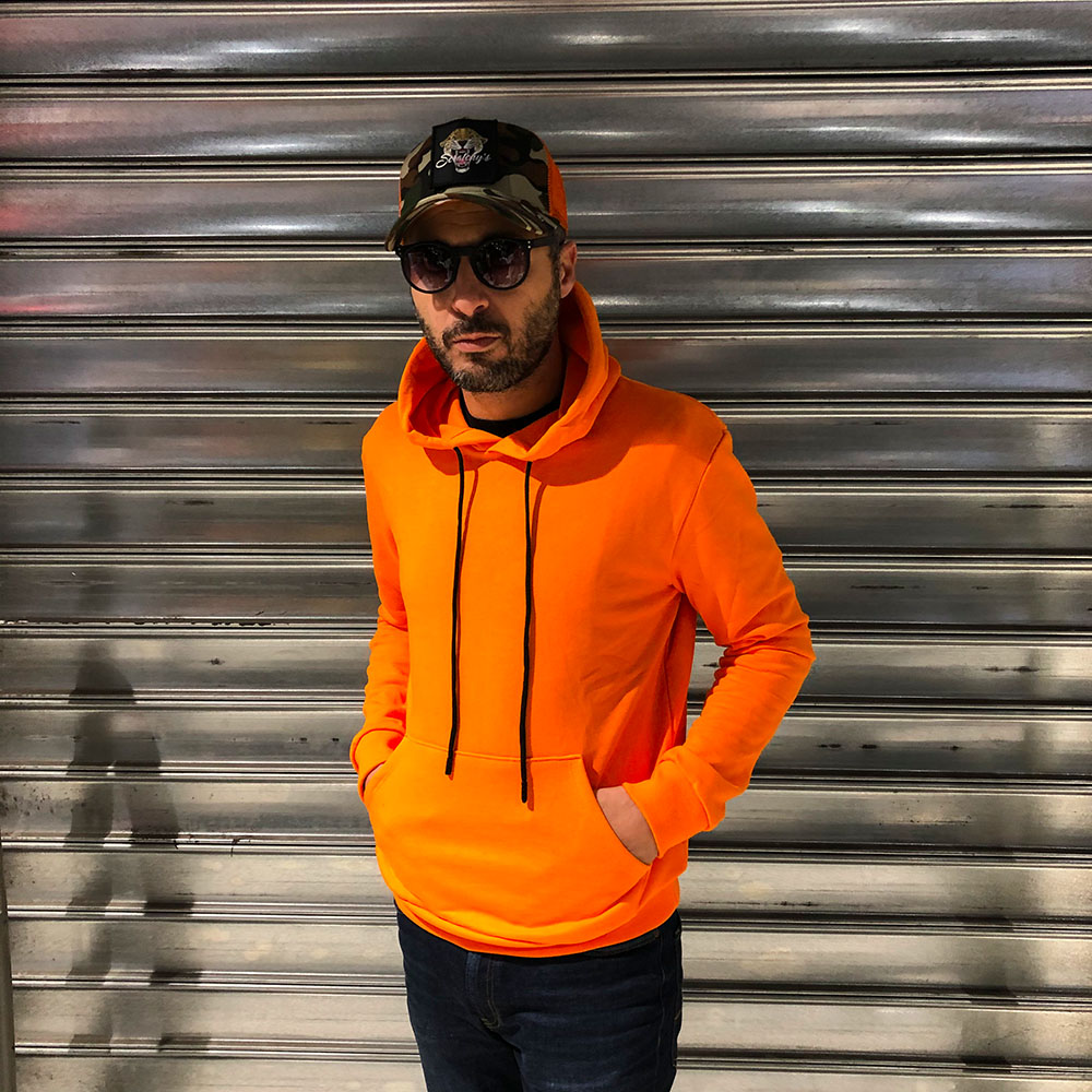 Sweat à capuche orange MTX - homme