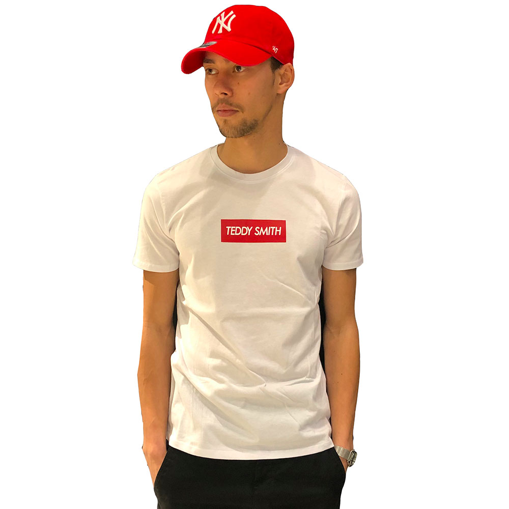 T-shirt-Teddy-Smith-TESUPER-blanc-rouge
