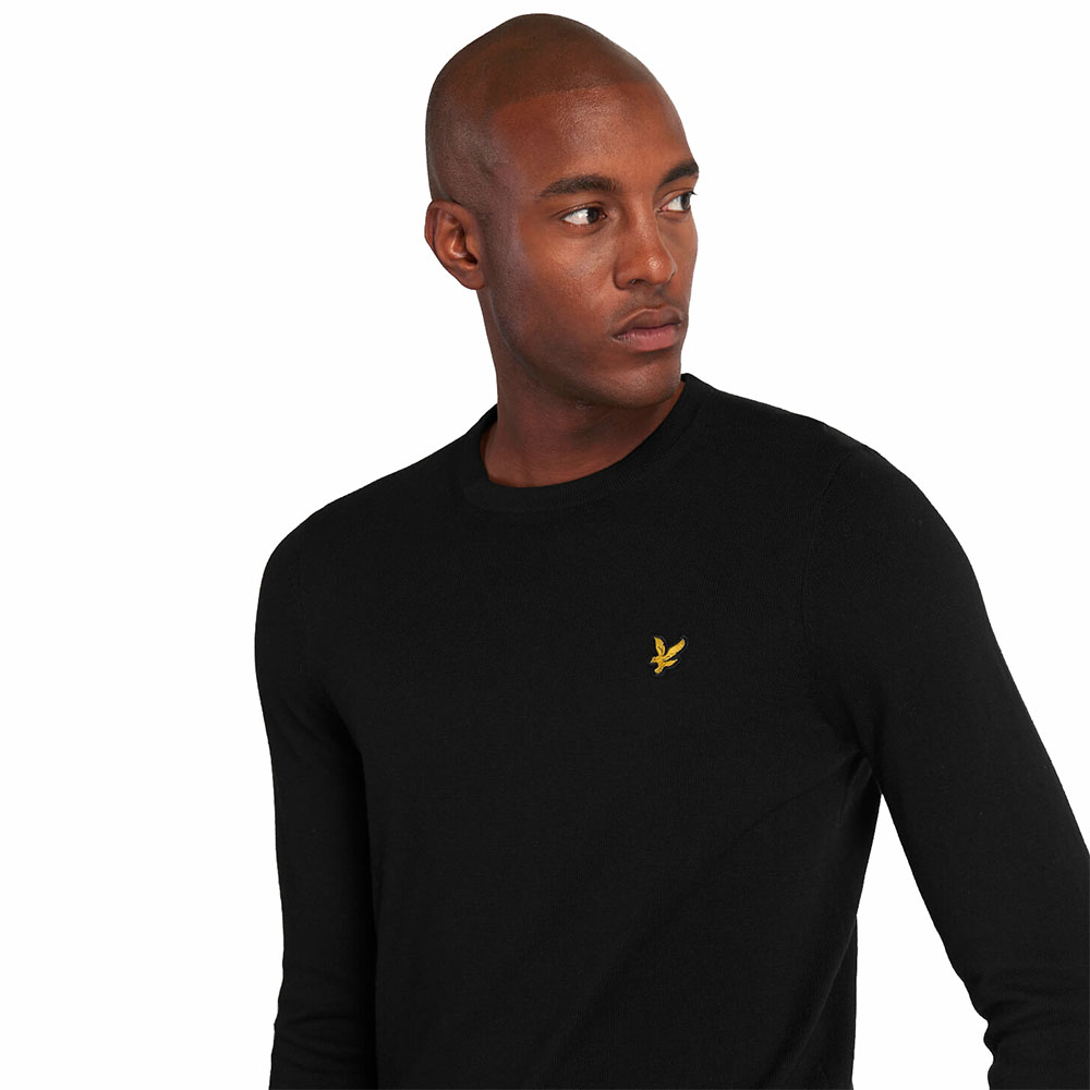 Pull-Col-Rond-Lyle-And-Scott-Noir