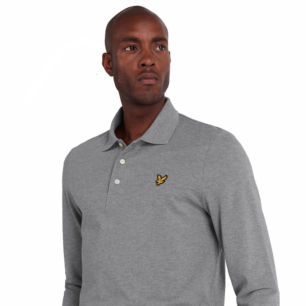 Polo-Manches-Longues-lyle-And-Scott-Gris