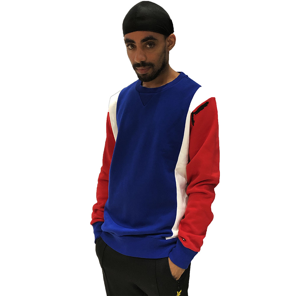 Pull-col-rond-Tommy-Hilfiger-bleu